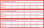 Naklejka - karta przeglądu x3