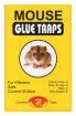Lep na myszy mouse glue trap 2szt