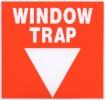 Naklejka na ścianę window trap